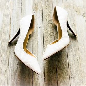 "Juicy Couture White ""Snakeskin"" Heels"